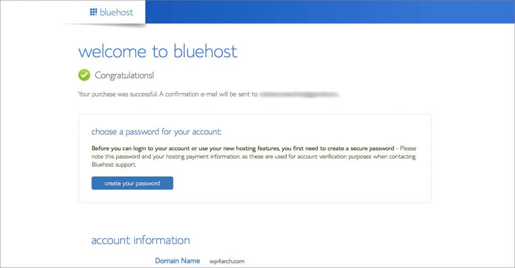 Bluehost-Congratulation