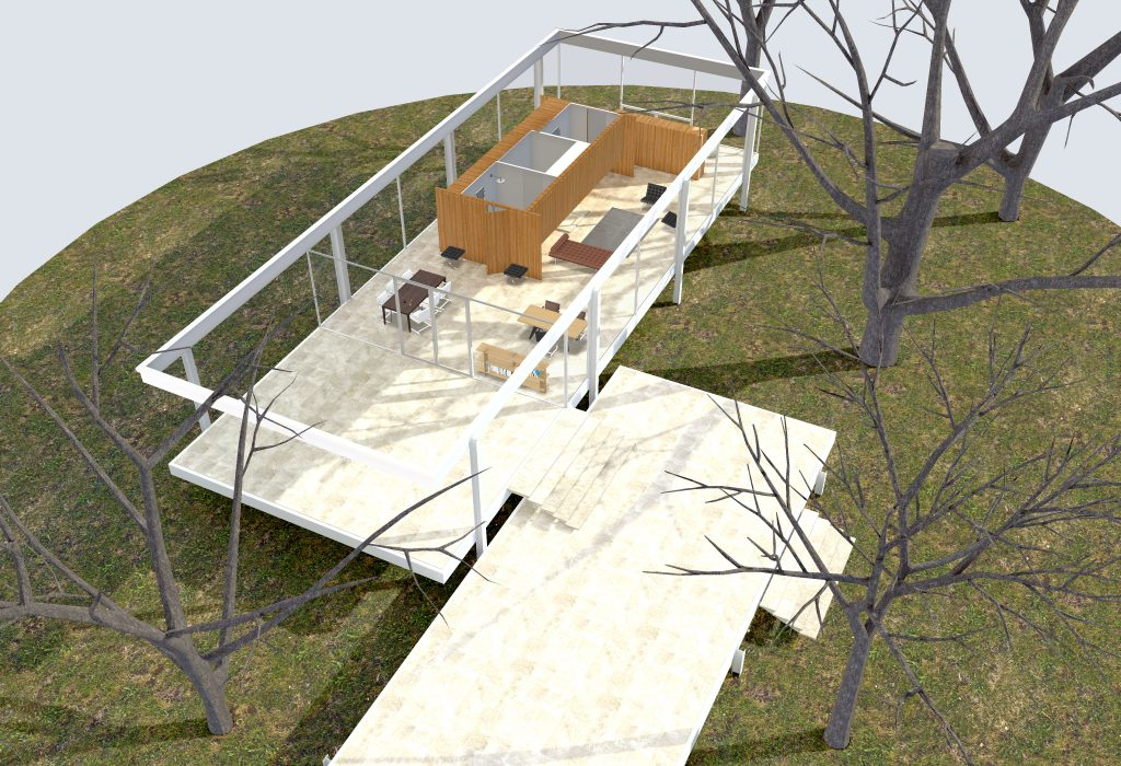 3d model of the Farnsworth House © Archilogic