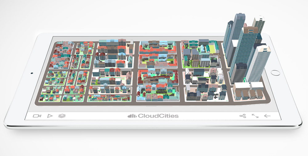 Feature 3D perspective iPad 3d city © SmarterBetterCities