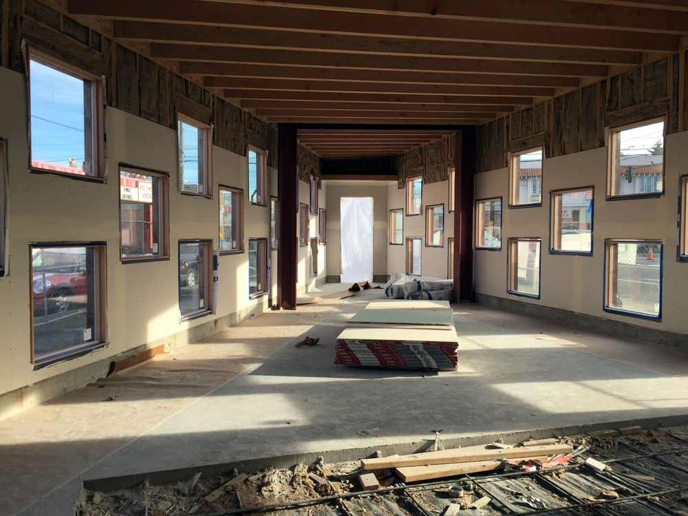 Interior during construction. | © Brian Foulkes