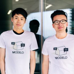 Modelo co-founders Tian Deng and Qi Su