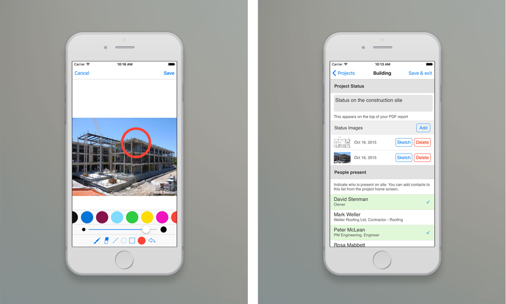 Field reports on construction site made easy with ArchiSnapper