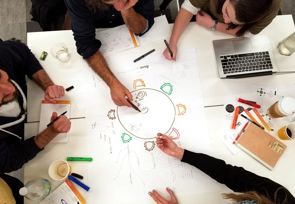 Design X Students brainstorm at MIT's new DesignX accelerator
