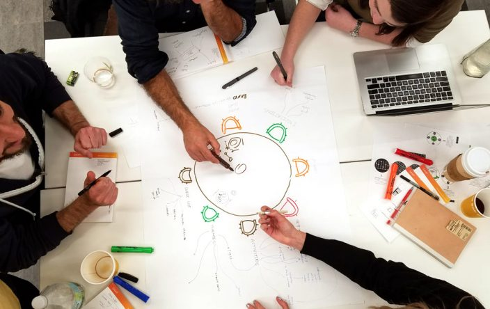 Students brainstorm at MIT's new DesignX accelerator