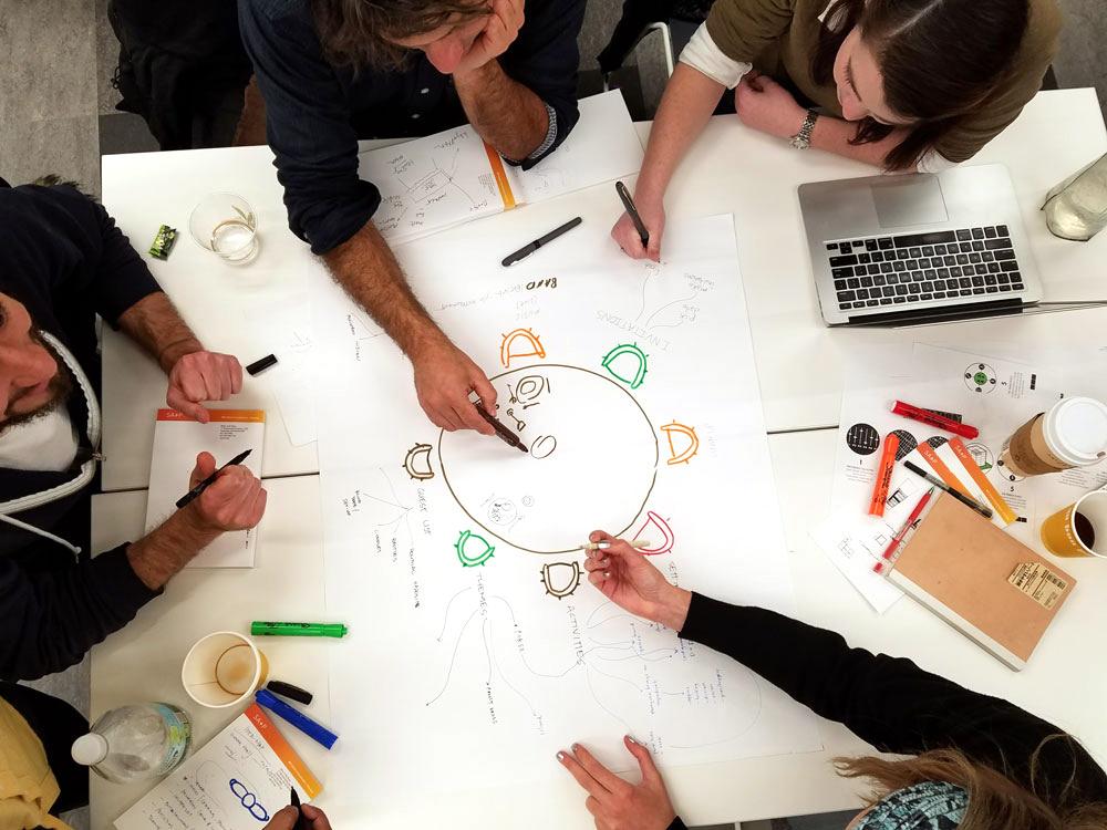 Design X Students brainstorm at MIT's new DesignX accelerator