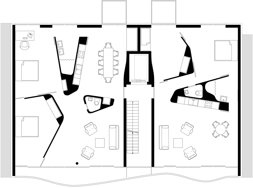Floor plan first floor of AFR 25 by Zoomarchitekten