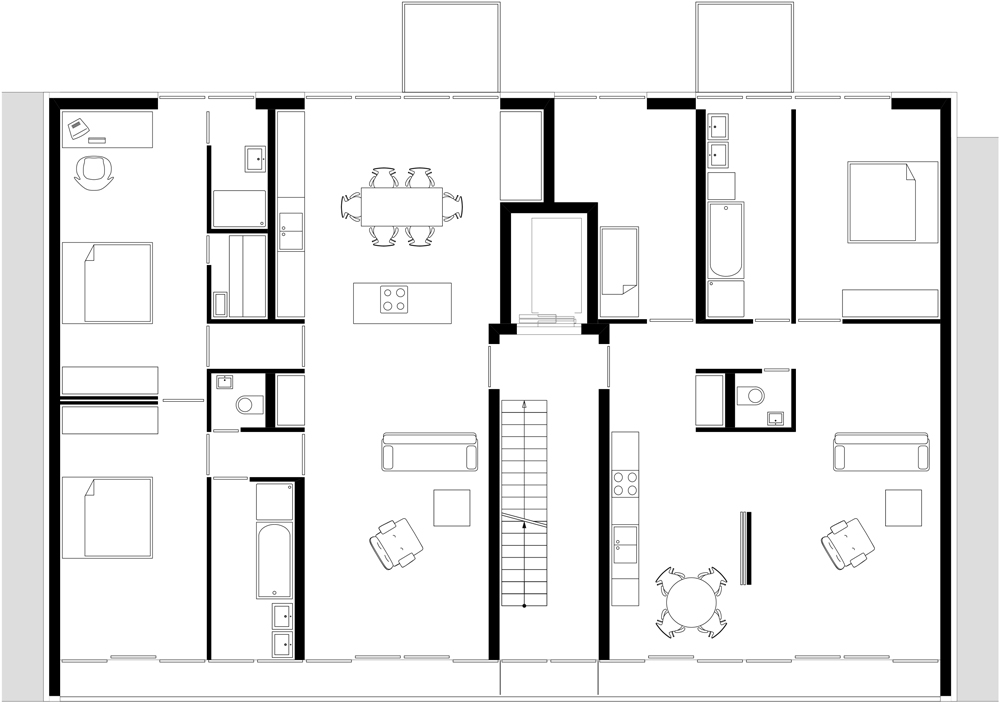 Floor plan third floor of AFR 25 by Zoomarchitekten