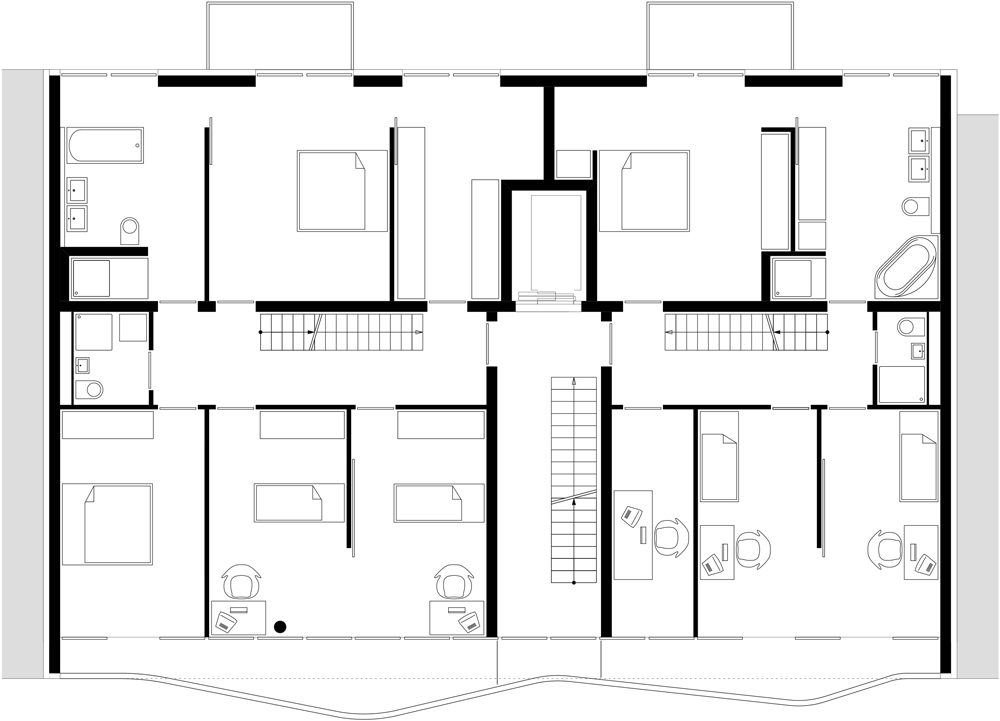 Floor plan fifth floor of AFR 25 by Zoomarchitekten