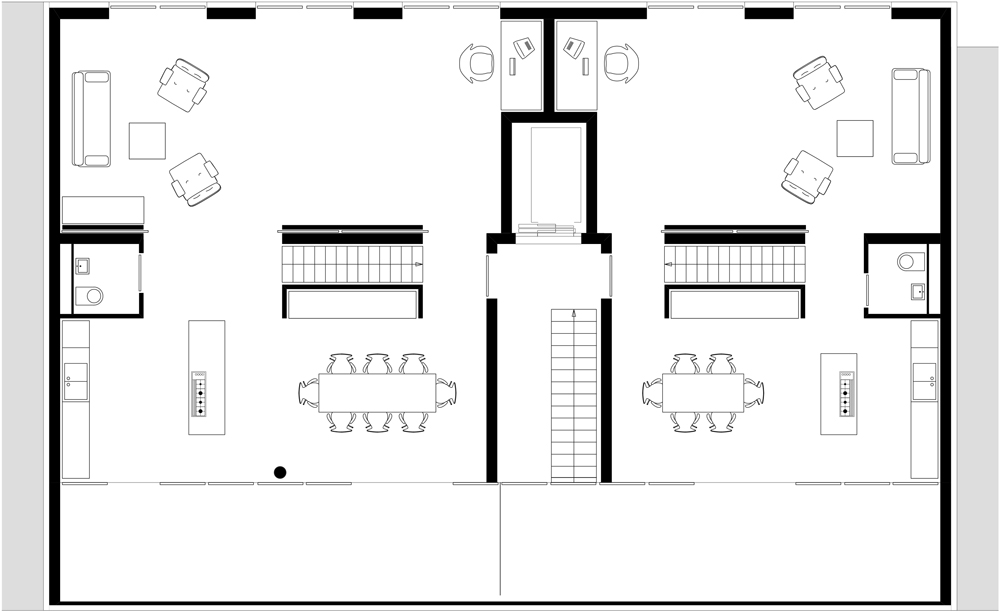 Floor plan sixth floor of AFR 25 by Zoomarchitekten