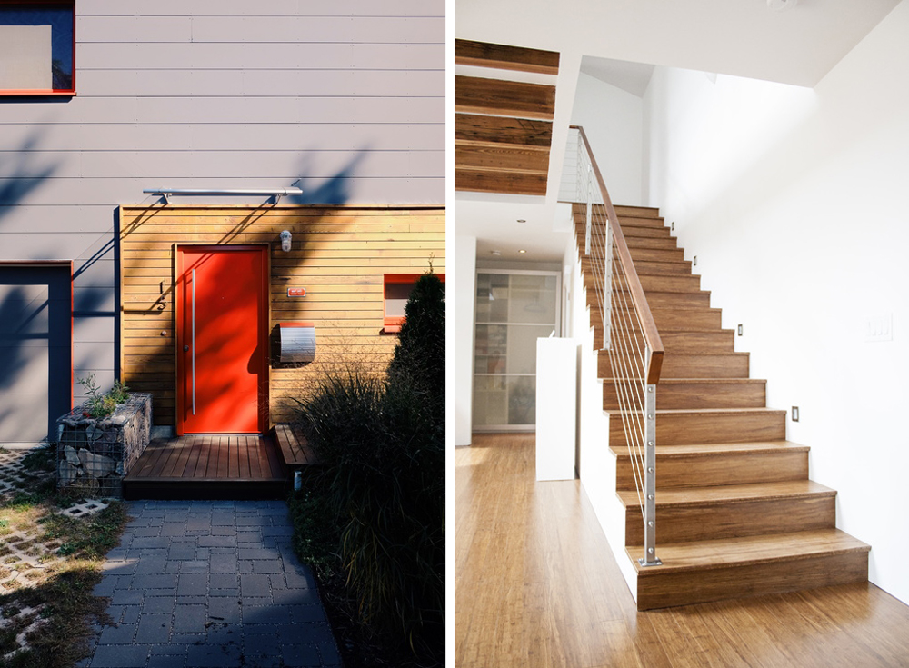 Detail and interior of the passive house