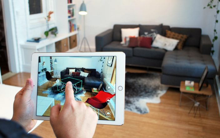 The app Pair allows architects to drag-and-drop 3-D models of consumer furnishings into their designs using iPhones or iPads.