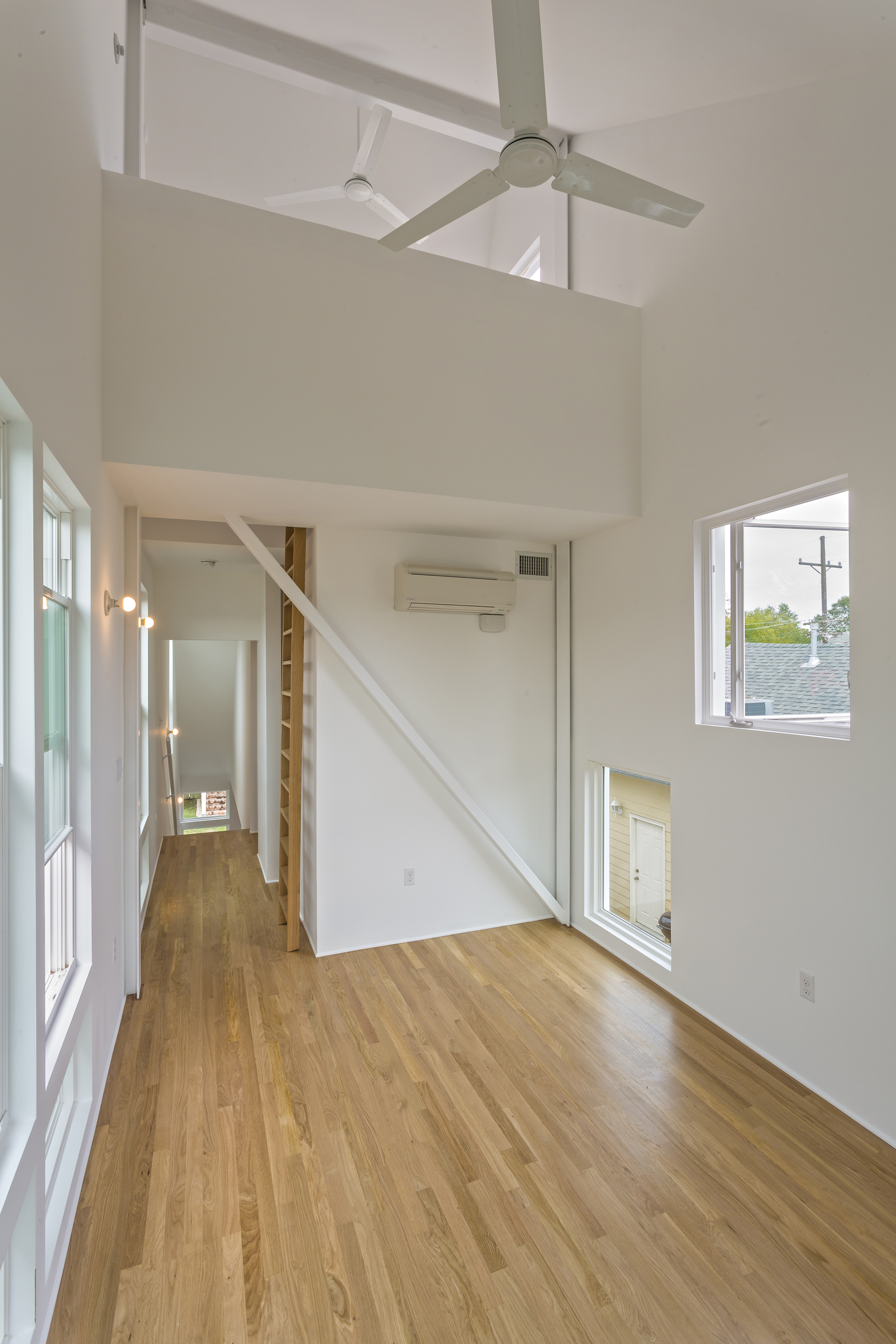 The upper level of the Starter Home* in New Orleans by architect OJT, Office of Jonathan Tate