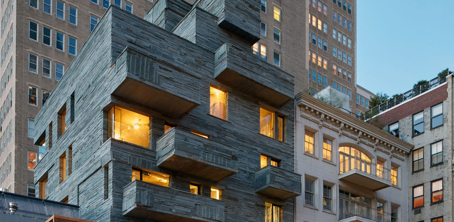 expressive stone faade luxury apartments in manhattan by ddg
