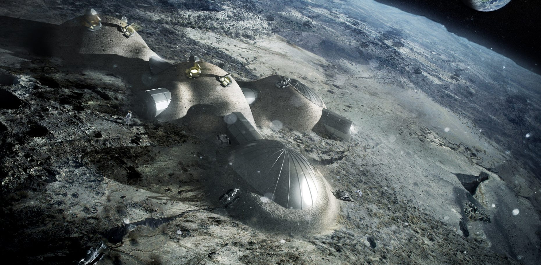 Architecture on the moon? Might be possible some day thanks to innovative in-house architectural research – in this case by Foster + Partners.