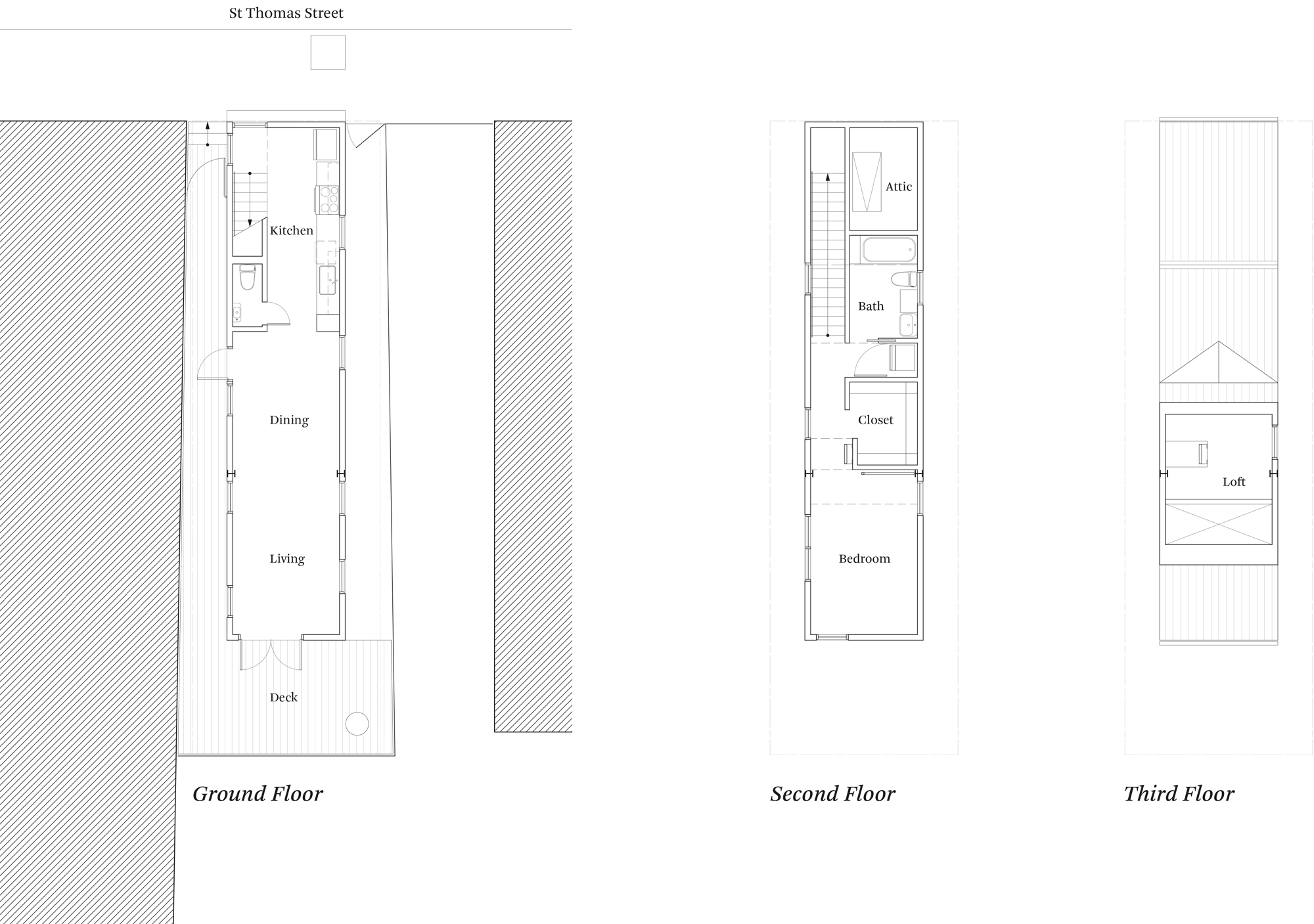 Floor plans of the first Starter Home* by OJT (Office of Jonathan Tate)