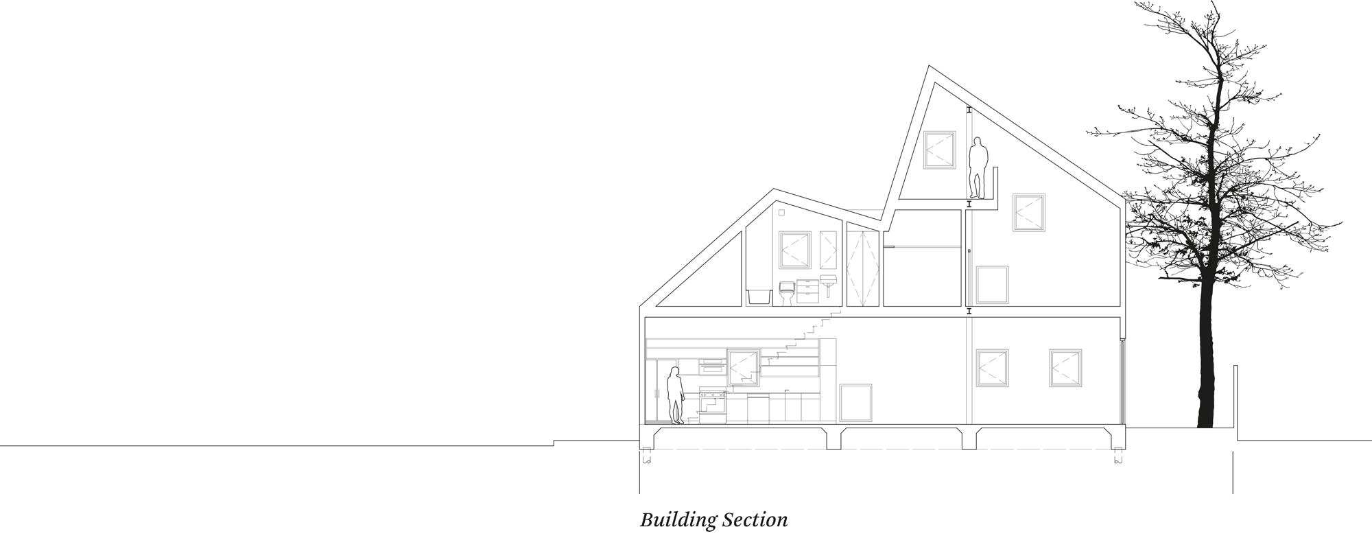 Section of the first Starter Home* by OJT (Office of Jonathan Tate)