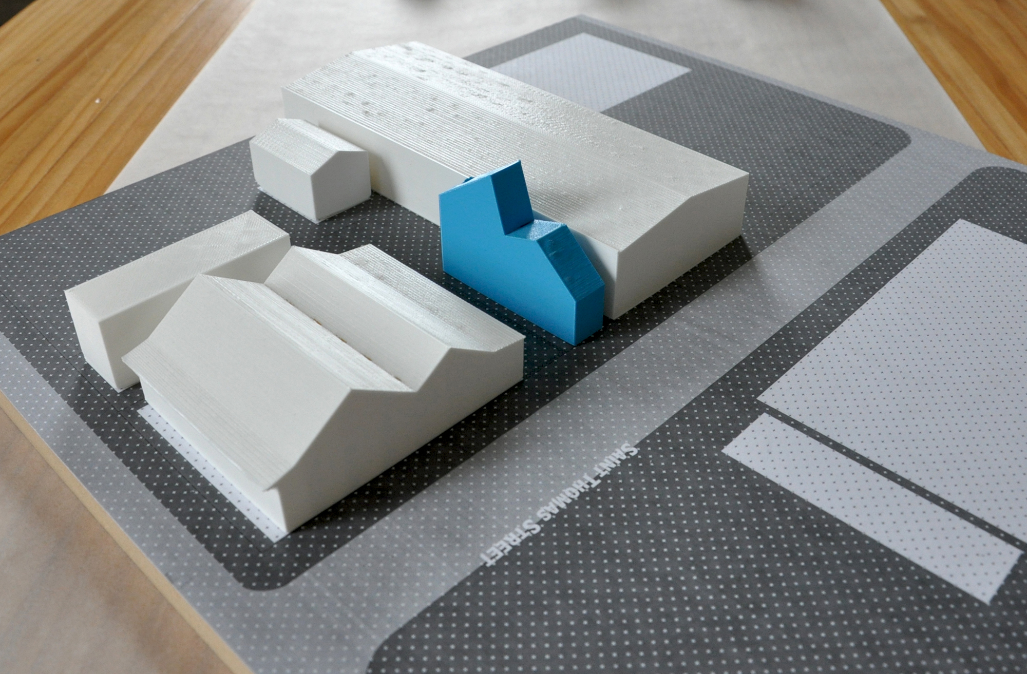 Site model of the Starter Home* No. 1 by OJT (Office of Jonathan Tate)