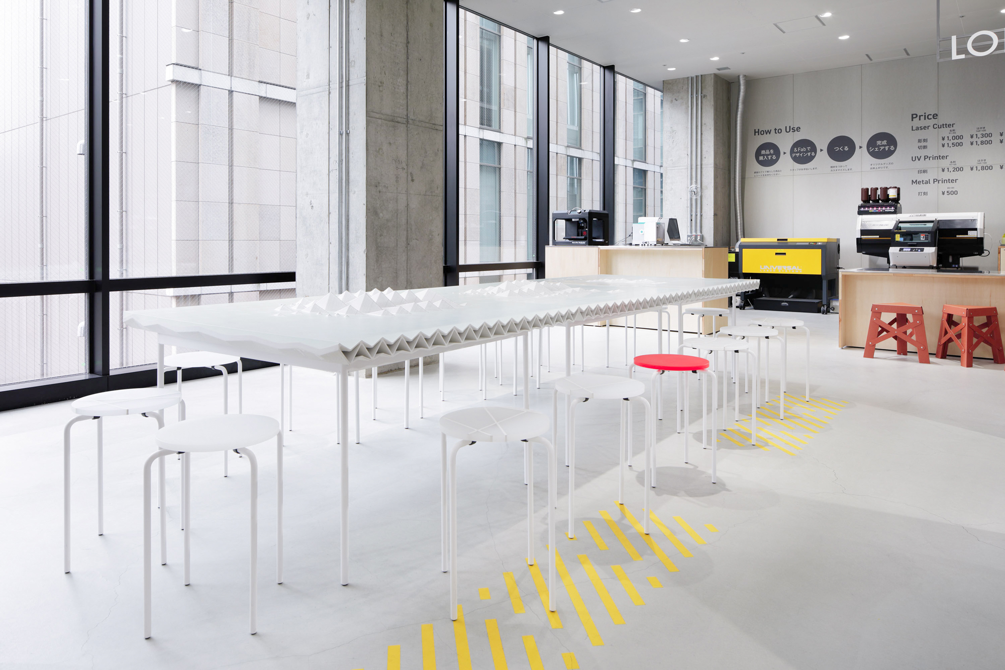 The Landscape Table, 3D printed retail furniture by DUS