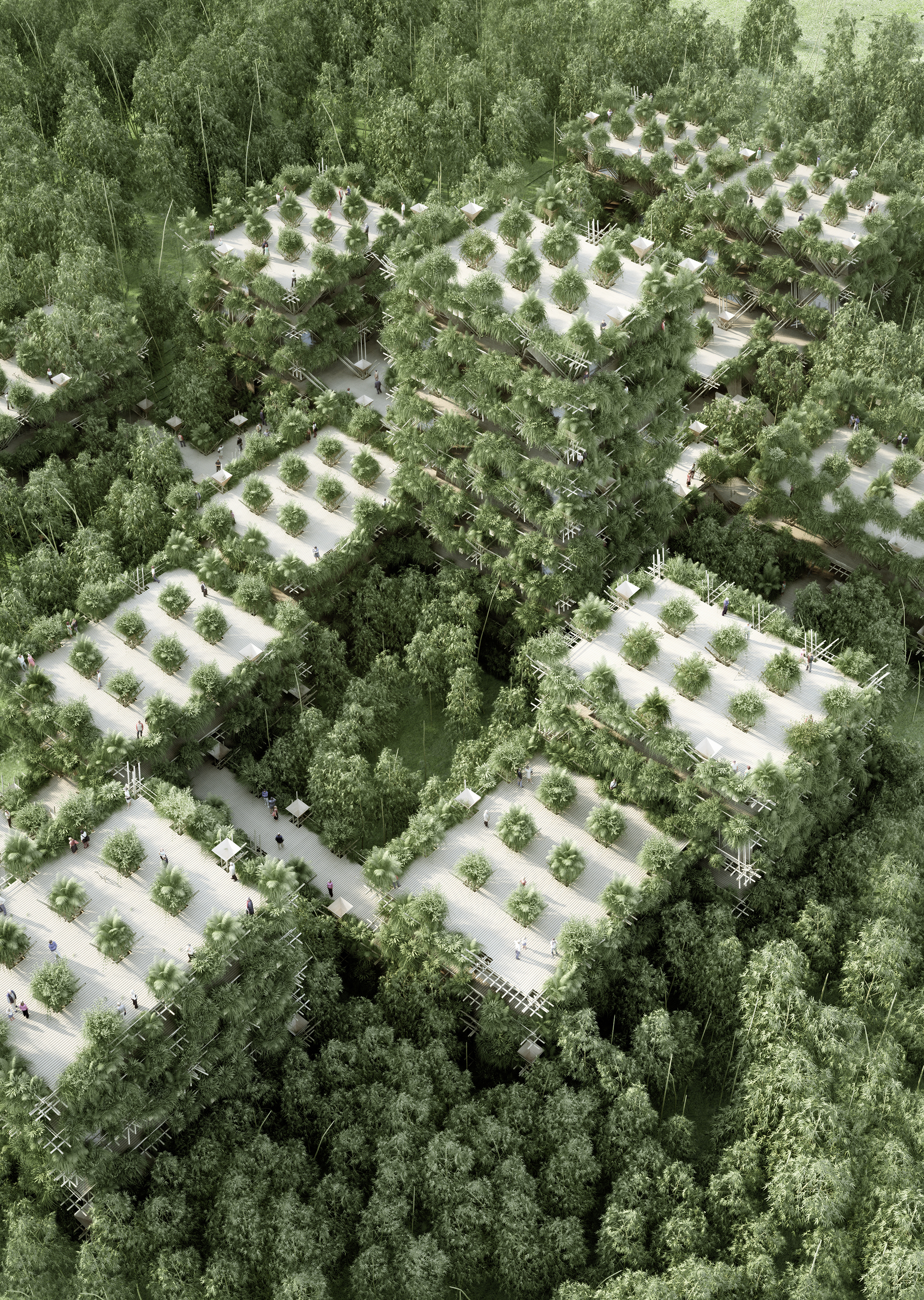 Rendering of PENDA's vision of a bamboo city.