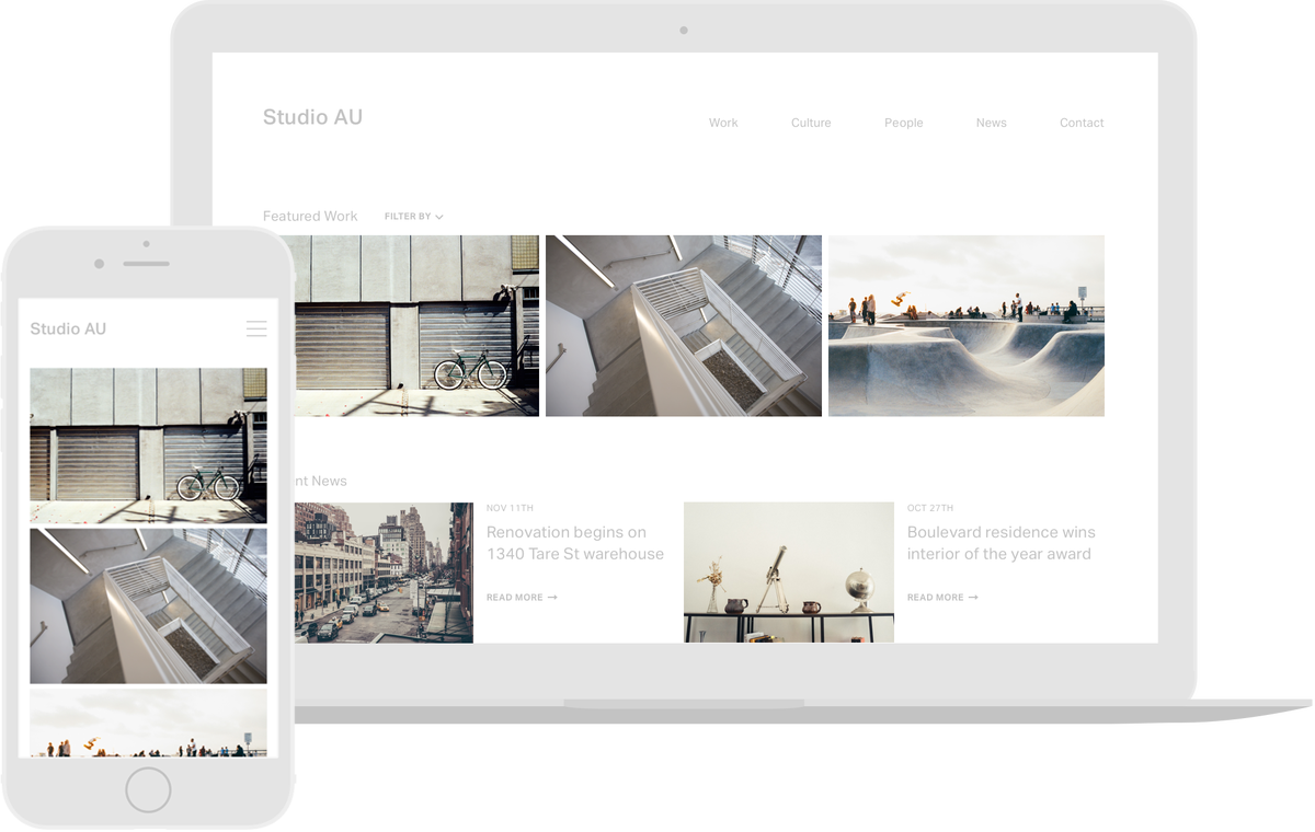 Monograph a website builder for architects by architects for Architectural websites