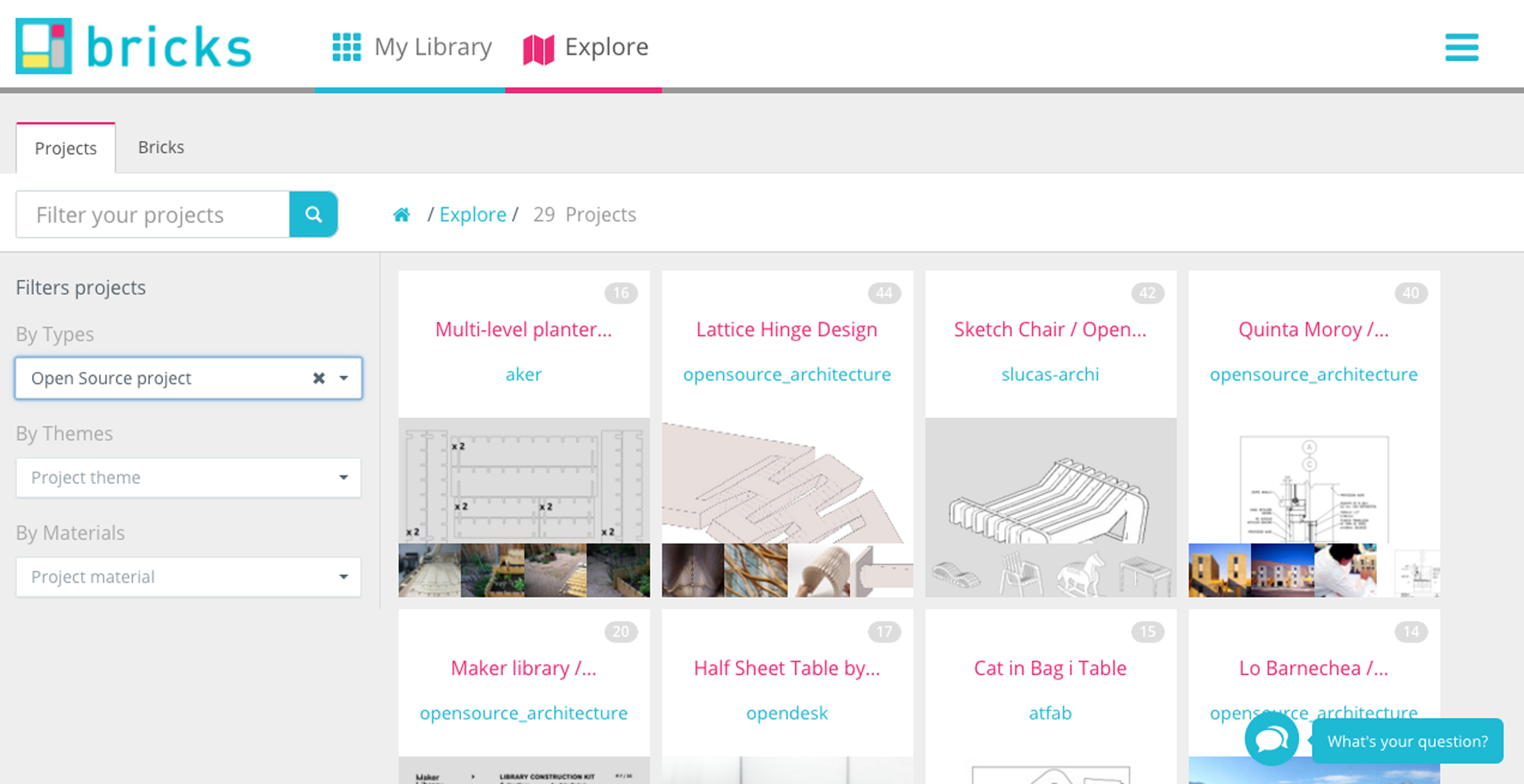 Openbricks, open source architectural library