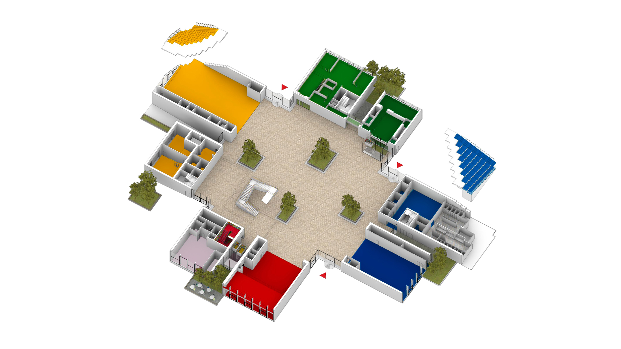 Ground level of the LEGO house by BIG - Bjarke Ingles Group