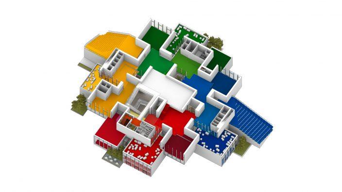 Lego house 3d axo 2 drawing by big original archipreneur for Lego house original