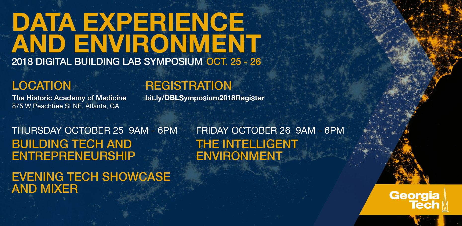 Digital Building Lab (DBL) Symposium 2018 at Georgia Tech